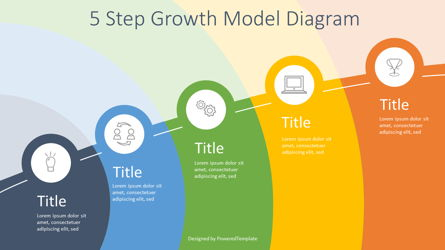 5 Step Growth Infographic Presentation Template, Master Slide