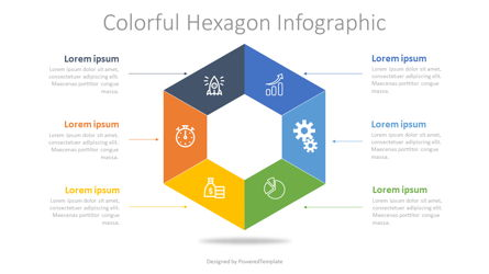Colorful Hexagon Infographic Presentation Template, Master Slide