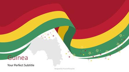 Guinea Independence Day Flag Ribbon Presentation Template, Master Slide