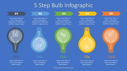 5 Step Bulb Infographic Presentation Template, Master Slide