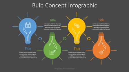 Bulb Concept Infographic Presentation Template, Master Slide