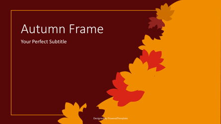 Autumn Frame Cover Slide Presentation Template, Master Slide