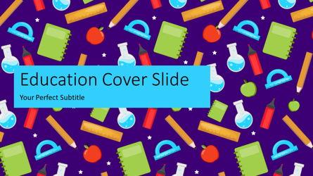 School Accessories Background Presentation Template, Master Slide