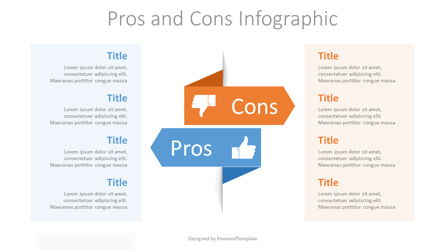 Pros and Cons Infographic Presentation Template, Master Slide