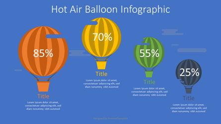 Hot Air Balloon Infographic Presentation Template, Master Slide