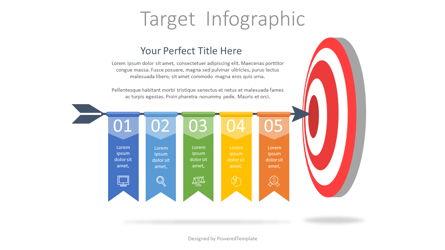 Hitting Target Infographic Presentation Template, Master Slide