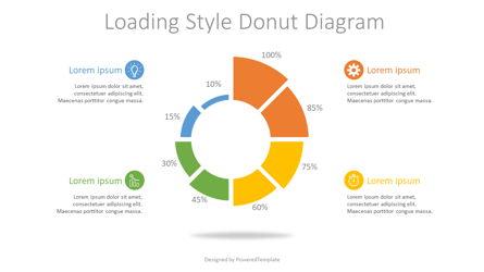 Loading Style Donut Diagram Presentation Template, Master Slide