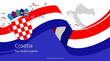 Festive Flag of Croatia Cover Slide Presentation Template, Master Slide