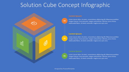 Solution Cube Concept Infographic Presentation Template, Master Slide