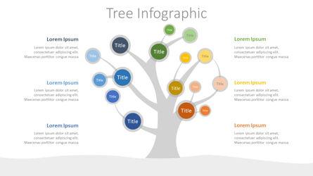 Tree Mind Map Infographic Presentation Template, Master Slide