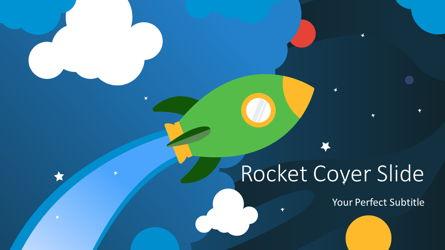 Cartoon Rocket Cover Slide Presentation Template, Master Slide
