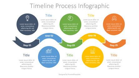 Timeline Process Infographic Presentation Template, Master Slide