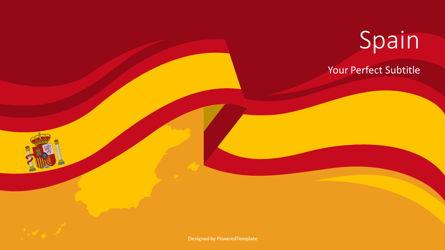 Spain Flag Cover Slide Presentation Template, Master Slide