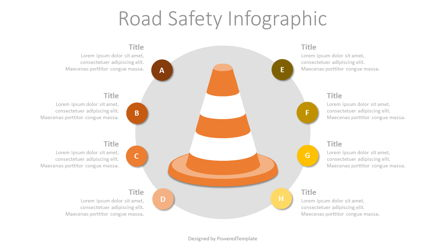Road Safety Infographic Presentation Template, Master Slide