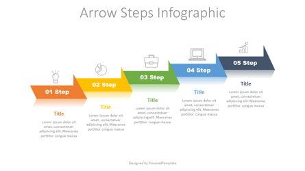 5 Arrow Step Infographic Presentation Template, Master Slide