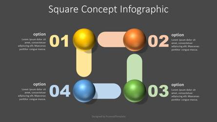 Square Shape Concept Infographic Presentation Template, Master Slide