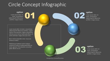 Circle Shape Concept Infographic Presentation Template, Master Slide