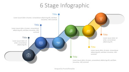 6 Stage Colorful Infographic Presentation Template, Master Slide