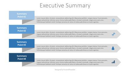 Executive Summary Template Presentation Template, Master Slide