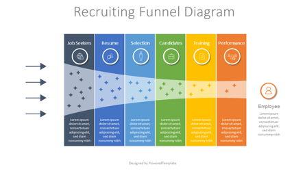Recruitment Funnel Diagram Presentation Template, Master Slide