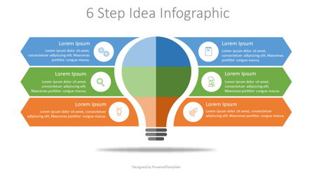 6 Step Idea Infographic Presentation Template, Master Slide