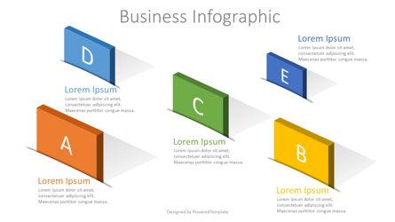 5 Options Creative Business Infographic Presentation Template, Master Slide