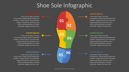 Shoe Sole Infographic Presentation Template, Master Slide