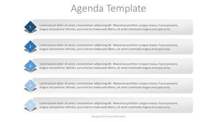 5 Items Agenda Slide Presentation Template, Master Slide