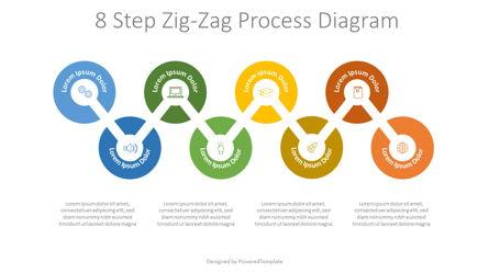 8 Step Zigzag Process Diagram Presentation Template, Master Slide