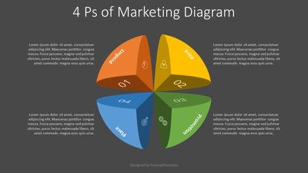 4 Ps of Business Management Diagram Presentation Template, Master Slide