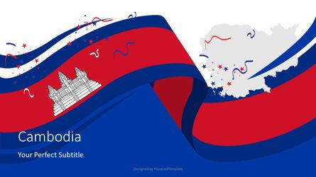 Festive Flag of Cambodia Cover Slide Presentation Template, Master Slide