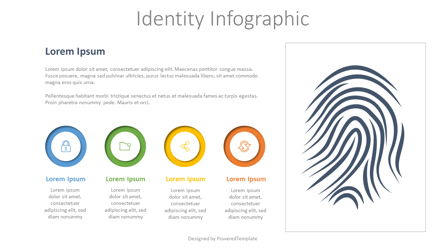 Identity Infographic with 3 Options Presentation Template, Master Slide