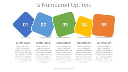 5 Colored Numbered Options Presentation Template, Master Slide