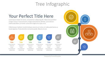 Business Tree Infographic Presentation Template, Master Slide