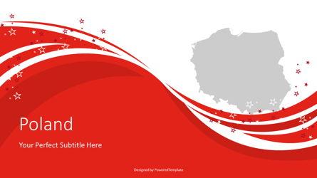 Poland State Flag Festive Cover Slide Presentation Template, Master Slide