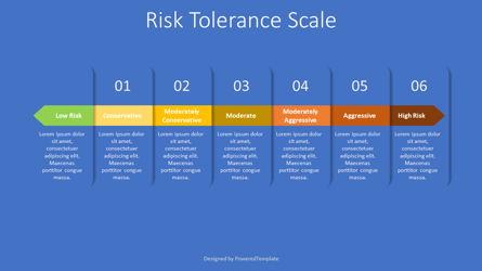 Risk Tolerance Scale Diagram Presentation Template, Master Slide