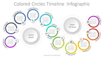 Colored Circles Timeline Infographic Presentation Template, Master Slide