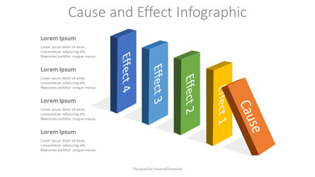 Cause and Effect Infographic Presentation Template, Master Slide