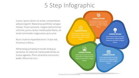 5 Steps Cycle Diagram Presentation Template, Master Slide