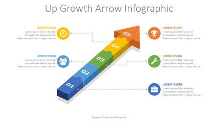 Puzzle Arrow Infographic Presentation Template, Master Slide
