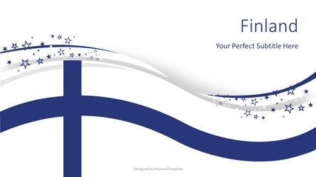 Finland Festive State Flag Presentation Template, Master Slide