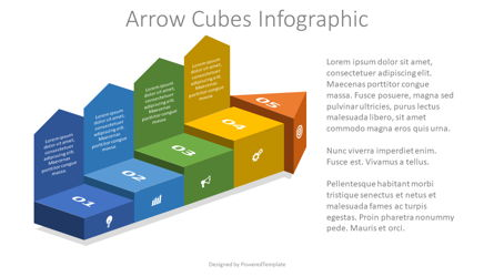 Arrow Cubes Infographic Presentation Template, Master Slide