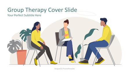 Group Therapy Cover Slide Presentation Template, Master Slide