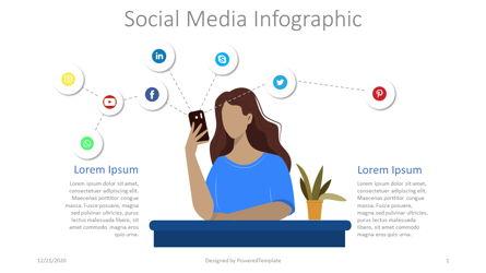 Social Media Networks Infographic Presentation Template, Master Slide