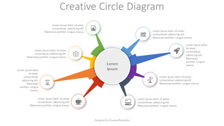 Creative Circle Diagram Presentation Template, Master Slide