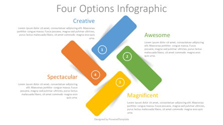 Four Color Options Infographic Presentation Template, Master Slide