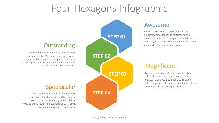 Four Hexagons Infographic Presentation Template, Master Slide