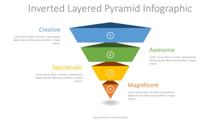 Inverted Layered Pyramid Diagram Presentation Template, Master Slide