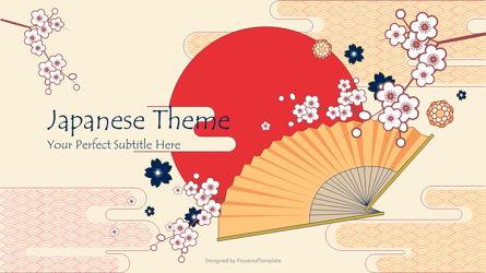 Japanese Landscape Cover Slide Presentation Template, Master Slide