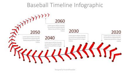 Baseball Timeline Infographic Presentation Template, Master Slide